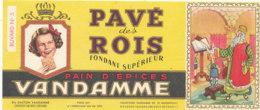 BU 1734 /  BUVARD -  PAIN D'EPICES PAVE DES ROIS  VANDAMME - Peperkoeken