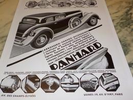 ANCIENNE PUBLICITE VOITURE   PANHARD 1932 - Voitures