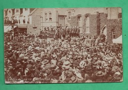 England Berkshire Cavershiam 1910 Proclamation Of King George V ( Format 9cm X 14cm ) Damaged Card - Angleterre