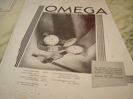 ANCIENNE PUBLICITE POUR LA VIE MONTRE OMEGA 1932 - Joyas & Relojería