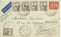 INDOCHINA, CARTA CIRCULADA AÑO  1939 - Indochina (1889-1945)