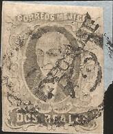 J) 1861 MEXICO, HIDALGO, 2 REALES, DIAGONAL DISTRICT SAN LUIS POTOSI, FRAGMENT OF LETTER ORNAMENTAL, MN - Mexico