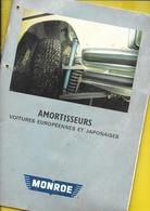 """Catalogue Amortisseurs """"MONROE"""" 48 Pages + Couverture Format 21 X 29 Cm - Voitures"""