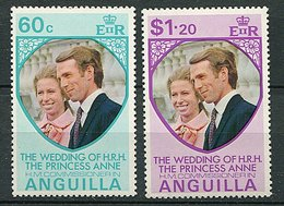 Anguilla ** N° 147/148 - Mariage De La Princesse Anne D'Angleterre - - Anguilla (1968-...)