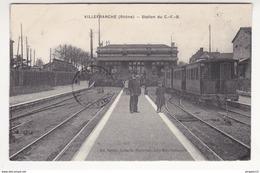 Au Plus Rapide Villefranche Sur Saône Station Du CFB Gare Train - Villefranche-sur-Saone