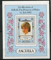 Anguilla ** Bloc 43 - 21e Ann. De La Princesse De  Galles. - - Anguilla (1968-...)