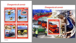 GUINEA BISSAU 2019 MNH Mail Transport Posttransport Transport De Courrier M/S+S/S - OFFICIAL ISSUE - DH1924 - Post