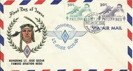 FILIPINAS, SOBRE PRIMER DIA HOMENAJE A LT. JOSE GOZAR AÑO  1955 - Filipinas