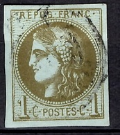 France Bordeaux YT N° 39Cc Oblitéré. Nuance Olive-bronze. Premier Choix Signé Brun. A Saisir! - 1870 Emission De Bordeaux