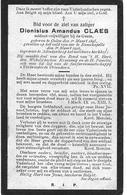 Claes D.a.(gesneuveld Olen 1895 -ramscapelle 1916) - Religión & Esoterismo