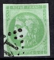 France Bordeaux YT N° 42B Oblitéré. Premier Choix Signé Brun. A Saisir! - 1870 Bordeaux Printing