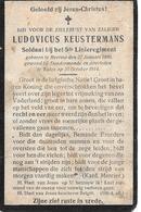 Keustermans Ludovicus (gesneuveld  Beerse 1890 -dendermonde 1914) - Religione & Esoterismo