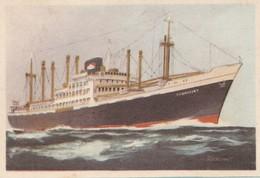 TJIBANTJET Ned. Kon Java-China Paketvaart 1952, Captain Grant Virginia Cigarettes - Cigarette Cards