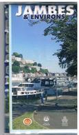 Pochette Plastifiée Comprenant Une Carte De JAMBES (Namur)  Et Ses Environs Et Une Brochure D'index Des Rues Et Infos - Europe