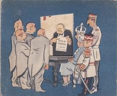 Rare Carte à Système Anti-Communiste - Le Président Des Etats-Unis,Franklin Roosevelt,W.Churchill,G.de Gaulle... - 1939-45