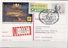 Postal History: Germany Registered Postal Stationery Card With Special Cancel - W.W.F.