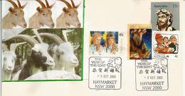 Belle Lettre D'Australie, Année Du Bélier, De China Town Haymarket Sydney 2003 - Chinees Nieuwjaar