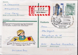 Postal History: Germany Registered Postal Stationery Card With Special Cancel - Childhood & Youth