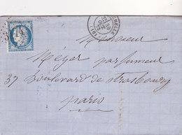 376  -  CERES 60  LA ROCHELLE  A  PARIS - Postmark Collection (Covers)