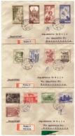 MG196) CECOSLOVACCHIA 1956 3 Racc.te Viaggiate Con 3serie Cpl Scott 731-743 13 Valori - Tschechoslowakei/CSSR