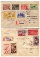 MG199) CECOSLOVACCHIA Lotto 5 Raccomandate Viaggiate Fine Anni 50 - Tschechoslowakei/CSSR