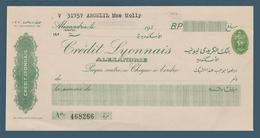 Egypt - Vintage Cheque - ( Credit Lyonnais - Alexandria ) - Cheques En Traveller's Cheques