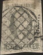 J) 1861 MEXICO, HIDALGO, 2 REALES, DISTRICT MEXICO, MUTE CANCELLATION, MN - Mexico