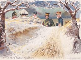 Guerre Russo-Japonnaise Sur La Route En Mandchourie 1945- Dépliant Publicitaire - Gentiane Théjy Quina Jouvent Th.Jean - 1939-45