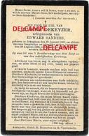 Doodsprentje Juliana Dekeyzer Bekegem 1861 En Overleden Aldaar Aug 1908 Sanders  Ichtegem Eernegem - Images Religieuses