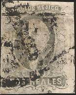 J) 1861 MEXICO, HIDALGO, 2 REALES, DIAGONAL DISTRICT, SAN LUIS POTOSI, ORNAMENTAL CANCELLATION, MN - Mexico