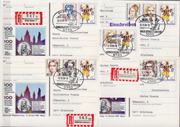 Postal History: Germany 17 Registered Postal Stationery Cards With Different Special Cancels - Post