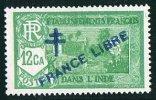 INDE ßurcharge »Croix De Lorraine Et FRANCE LIBRE»  Maury  204IIa ** Signé - Ungebraucht