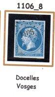 France : Petit Chiffre N° 1106 :  Docelles  (  Vosges ) Indice 8 - Marcophilie (Timbres Détachés)