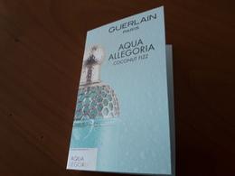 """Echantillon Sur Carte """" Coconut Fizz """" - Cartes Parfumées"""