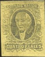 J) 1861 MEXICO, HIDALGO, 4 REALES, NO DISTRICT NAME, MN - Mexico