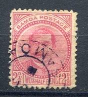 1892 - SAMOA - 2 1/2 D. Used - Perforated 13 X 13. YT 17 , SG 52 - Samoa (Staat)