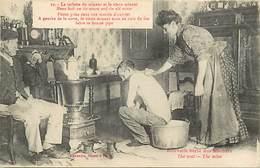 -ref- B649- Mines - La Toilette Du Mineur - Photo Prise Dans Une Maison D Ouvrier Et Vieux Mineur - - Mines
