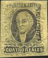 J) 1861 MEXICO, HIDALGO, 4 REALES, DISTRICT VERACRUZ, MN - Mexico