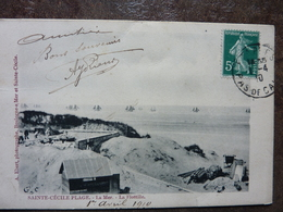 SAINTE CECILE PLAGE 1910   La Mer  La Flottille  TBE - France