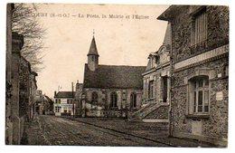 78 - Yvelines / MAURECOURT -- La Poste, La Mairie Et L'Eglise. - Maurecourt