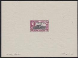 FALKLAND ISLANDS (1938) Upland Goose. Presentation Proof Printed By Helio-Vaugirard. Scott No 88, Yvert No 82. - Falkland