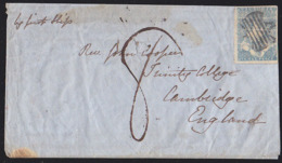 """VICTORIA (1851) Butterfly Fancy Cancel In Black On Single Of Scott No 3 On Ship Letter """"by First Ship"""". Melbourne Backst - 1850-1912 Victoria"""