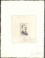 F.S.A.T. (1981) Jean Loranchet. Stage Die Proof In Black Signed By The Engraver BEQUET Scott No 97, Yvert No 94. - Geschnitten, Drukprobe Und Abarten