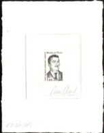 F.S.A.T. (1982) Martin De Viviès. Stage Die Proof In Black Signed By The Engraver BEQUET. Scott No 100, Yvert No 99 - Geschnitten, Drukprobe Und Abarten