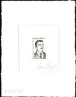 F.S.A.T. (1982) Martin De Viviès. Stage Die Proof In Black Signed By The Engraver BEQUET. Scott No 100, Yvert No 99 - Non Dentellati, Prove E Varietà
