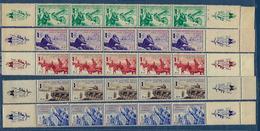 """FR LVF YT 6 à 10 Bande De 5 + Vignette """" Série Borodino """" 1942 Neuf** - Guerres"""
