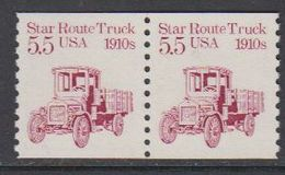 USA 1985 Star Route Truck 1910s 1v (pair) ** Mnh (43129A) - Verenigde Staten