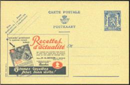 BELGIUM (1930) Baking Powder. Postal Card (mint), Publibel No 500, With Illustrated Ad For Recipes - Enteros Postales