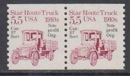 USA 1985 Star Route Truck 1910s 1v  Non Profit ((pair) ** Mnh (43129C) - Verenigde Staten