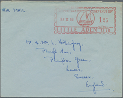 Aden: 1900/1959, Collection Of 49 Covers And Cards Monted On Pages Starting With India Used Abroad F - Jemen